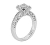 Vintage Inspired Diamond Pave Set Solea Ring Style 18RO4416DCZ