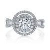 Vintage Inspired Diamond Pave Set Solea Ring Style 18RO5196DCZ