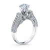 Vintage Inspired Diamond Pave Set Solea Ring Style 18WDR13050CZ