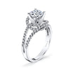 Vintage Inspired Diamond Pave Set Solea Ring Style 18RO6306DCZ