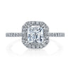 Vintage Inspired Diamond Pave Set Solea Ring Style 18RM61134DCZ