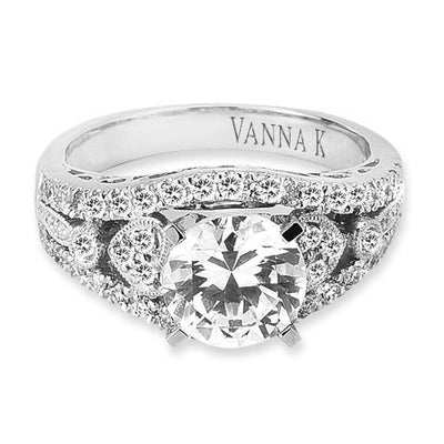 Vintage Inspired Diamond Pave Set Solea Ring Style 18RM61112DCZ