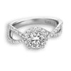 Vintage Inspired Diamond Pave Set Solea Ring Style 18RGL025DCZ