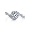 Vintage Inspired Diamond Pave Set Solea Ring Style 18RGL00122DCZ