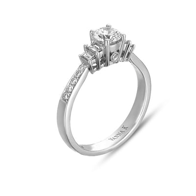 Ultra Lux Cascade Bridal Ring Style 18M00139CZ