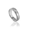 14K WHITE GOLD BRUSHED/MILGRAIN 6MM WEDDING BAND SIZE 10