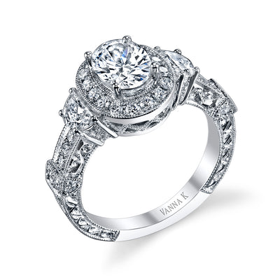 Hand Engraved Perfect Profile Diamond Ring Style 18RGL002031DCZ