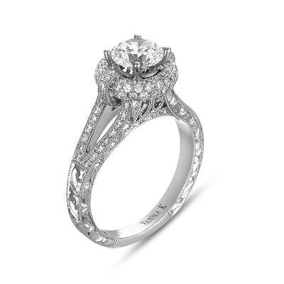 Hand Engraved Perfect Profile Diamond Ring Style 18RGL0214DCZ