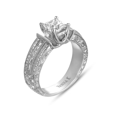 Hand Engraved Perfect Profile Diamond Ring Style 18RGL00192DCZ