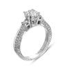 Hand Engraved Perfect Profile Diamond Ring Style 18RGL00168DCZ