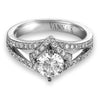 Vintage Inspired Diamond Pave Set Solea Ring Style 18AR9723DCZ