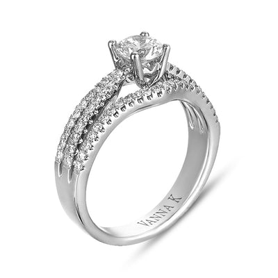 Vintage Inspired Diamond Pave Set Solea Ring Style 18M00722RCZ