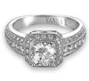 Vintage Inspired Diamond Pave Set Solea Ring Style 18RGL004DCZ