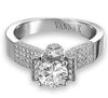 Vintage Inspired Diamond Pave Set Solea Ring Style 18RGL039DCZ