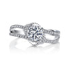 Vintage Inspired Diamond Pave Set Solea Ring Style 18RGL00167DCZ