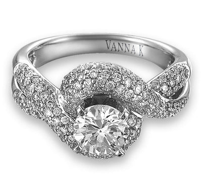Vintage Inspired Diamond Pave Set Solea Ring Style 18RM66692DCZ