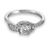 Vintage Inspired Diamond Pave Set Solea Ring Style 18RO6905DCZ