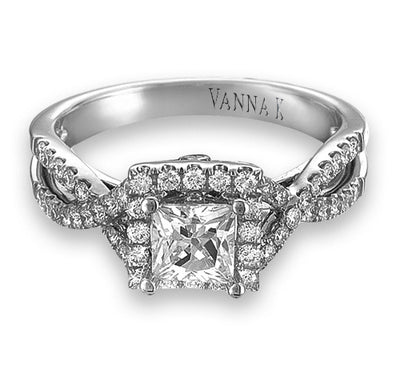 Vintage Inspired Diamond Pave Set Solea Ring Style 18RO8079DCZ