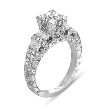 Hand Engraved Perfect Profile Diamond Ring Style 18RGL00216DCZ
