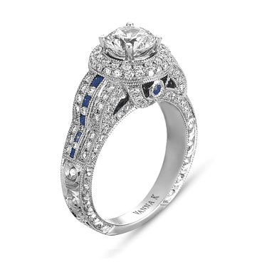 Hand Engraved Perfect Profile Diamond Ring Style 18RGL00269SDCZ