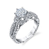 Hand Engraved Perfect Profile Diamond Ring Style 18RGL00270DCZ