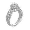 Hand Engraved Perfect Profile Diamond Ring Style 18RGL00271DCZ