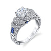 Hand Engraved Perfect Profile Diamond Ring Style 18RGL00188SDCZ