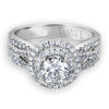 Vintage Inspired Diamond Pave Set Solea Ring Style 18AR9882DCZ