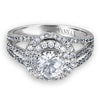 Vintage Inspired Diamond Pave Set Solea Ring Style 18AR9883DCZ