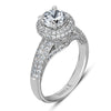 Vintage Inspired Diamond Pave Set Solea Ring Style 18M00507RCZ