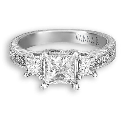 Hand Engraved Perfect Profile Diamond Ring Style 18R02381DCZ
