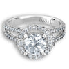 Vintage Inspired Diamond Pave Set Solea Ring Style 18R0518111DCZ