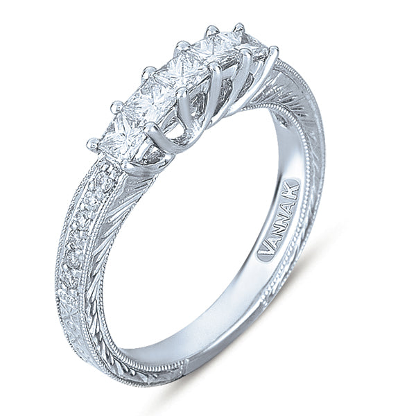 Hand Engraved Perfect Profile Diamond Ring Style  18BND2381