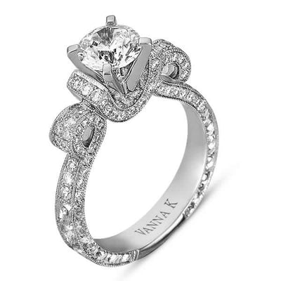 Hand Engraved Perfect Profile Diamond Ring Style 18RGL00275DCZ