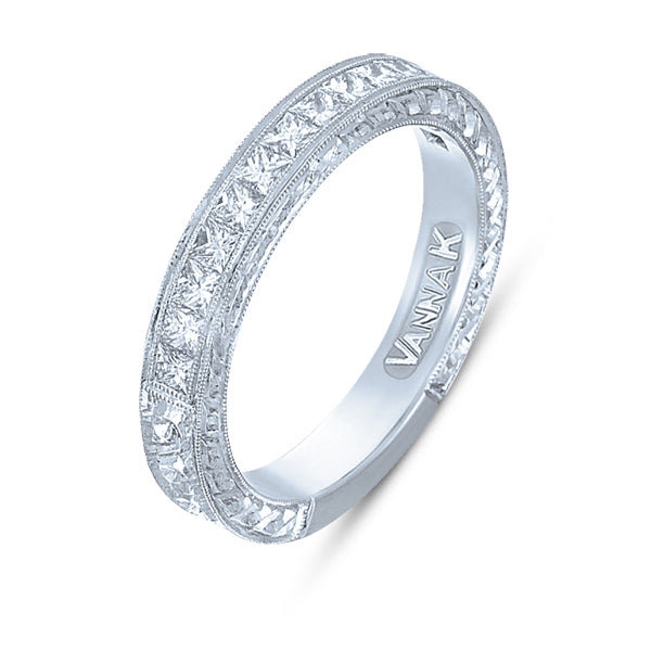 Hand Engraved Perfect Profile Diamond Ring Style 18BND00344