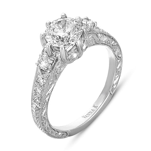 Hand Engraved Perfect Profile Diamond Ring Style 18RGL00326DCZ