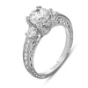 Hand Engraved Perfect Profile Diamond Ring Style 18RGL00328DCZ