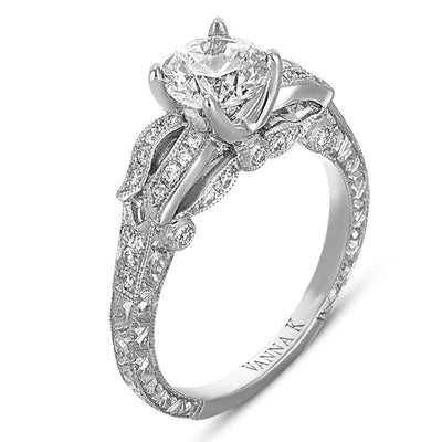Hand Engraved Perfect Profile Diamond Ring Style 18RGL00340DCZ