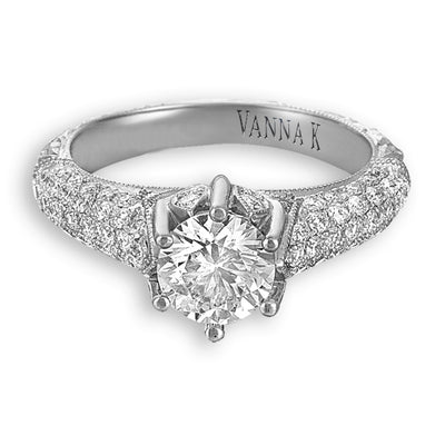 Hand Engraved Perfect Profile Diamond Ring Style 18RGL00345DCZ