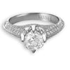 Hand Engraved Perfect Profile Diamond Ring Style 18RGL00347DCZ