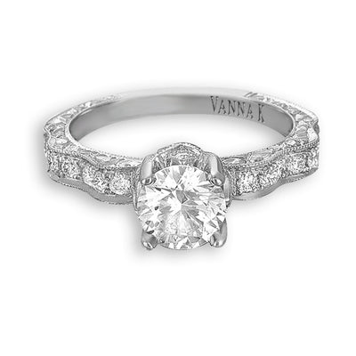 Hand Engraved Perfect Profile Diamond Ring Style 18RGL00361DCZ