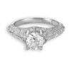 Hand Engraved Perfect Profile Diamond Ring Style 18RGL00362DCZ