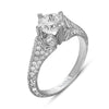 Hand Engraved Perfect Profile Diamond Ring Style 18RGL00363DCZ