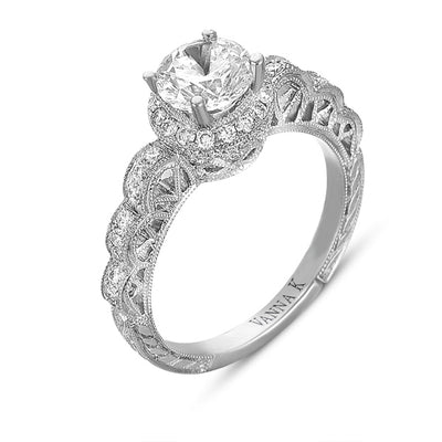 Hand Engraved Perfect Profile Diamond Ring Style 18RGL00367DCZ