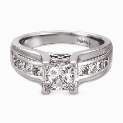 Ultra Lux Cascade Bridal Ring Style 18R167DCZ