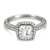 Vintage Inspired Diamond Pave Set Solea Ring Style 18RO530911DCZ