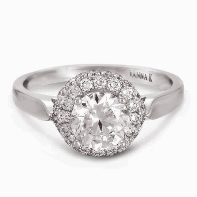 Vintage Inspired Diamond Pave Set Solea Ring Style 18RGL552DCZ