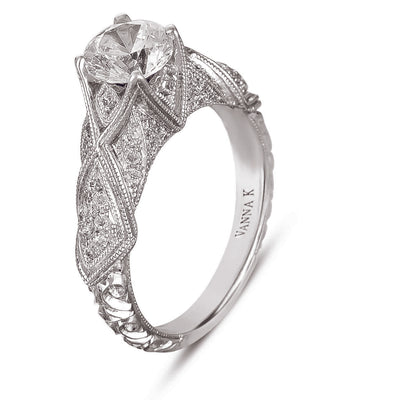 Hand Engraved Perfect Profile Diamond Ring Style 18RGL00409DCZBridal Rings, Diamond Rings, Hand-Engraved Engagement Rings