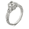 Hand Engraved Perfect Profile Diamond Ring Style 18RGL00411DCZ