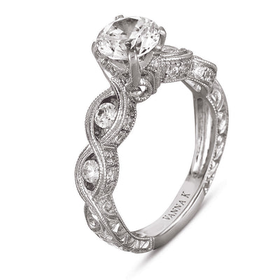 Hand Engraved Perfect Profile Diamond Ring Style 18RGL02956DCZ